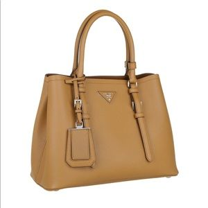 Prada brown purse with crossbody strap cuir